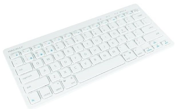 Macally Bluetooth Keyboard for Three Devices (White)