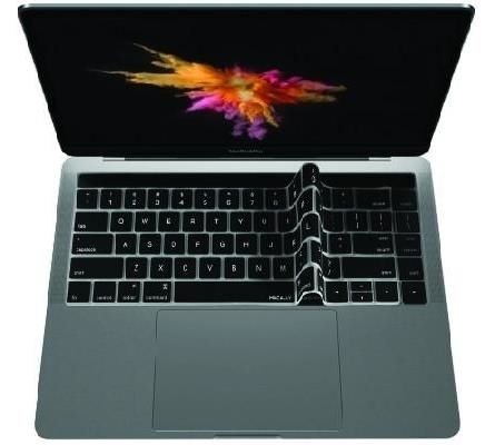 Macally Keyboard Protector for MacBook Pro Touch Bar, Black