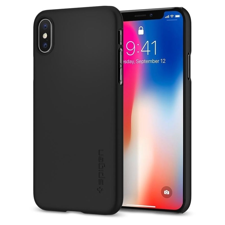 iPhone X, Thin Fit Case, Matte Black