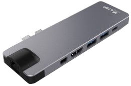 LMP USB-C 4K 8-Port Compact Dock, Space Gray