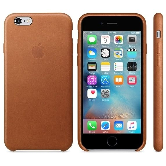 Apple iPhone 6/6s Leather Case, Saddle Brown