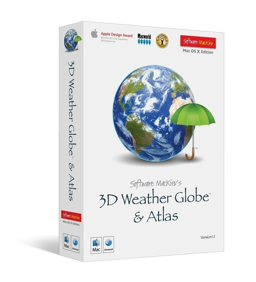 Software MacKiev 3D Weather Globe and Atlas