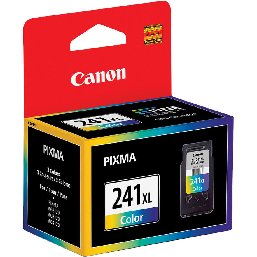 CL-241XL Color Ink Cartridge for PIXMA MG4120, MG3120, MG2120""