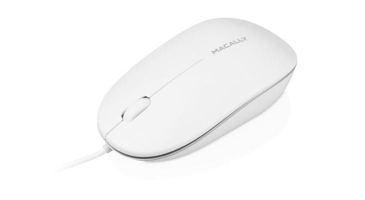 Macally Optical Wired Mouse, White