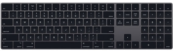 Apple Magic Keyboard with Numeric Keypad, Space Gray