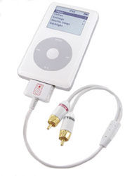 Stereo Link for iPodHigh-performance RCA output for the iPod
