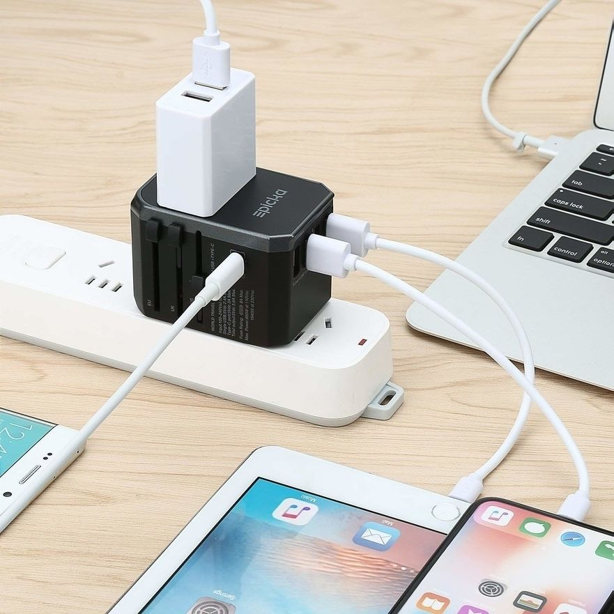Epicka Travel AC Wall Adapter with MacBook, iPhone and iPad