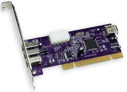 ALLEGRO 3PORT FIREWIRE PCI CARD1394A 400MBPS MAC and WIN COMPATIBLE