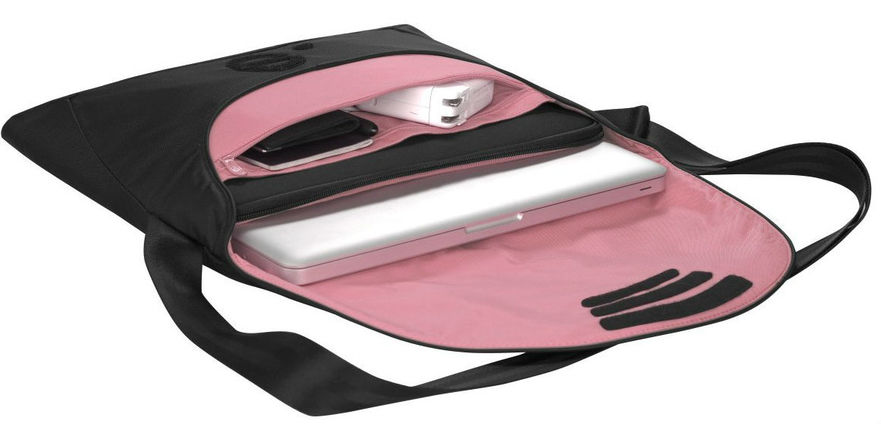 "LA Garde Laptop Sleeve for 13"" Laptop, Black/Light Pink"