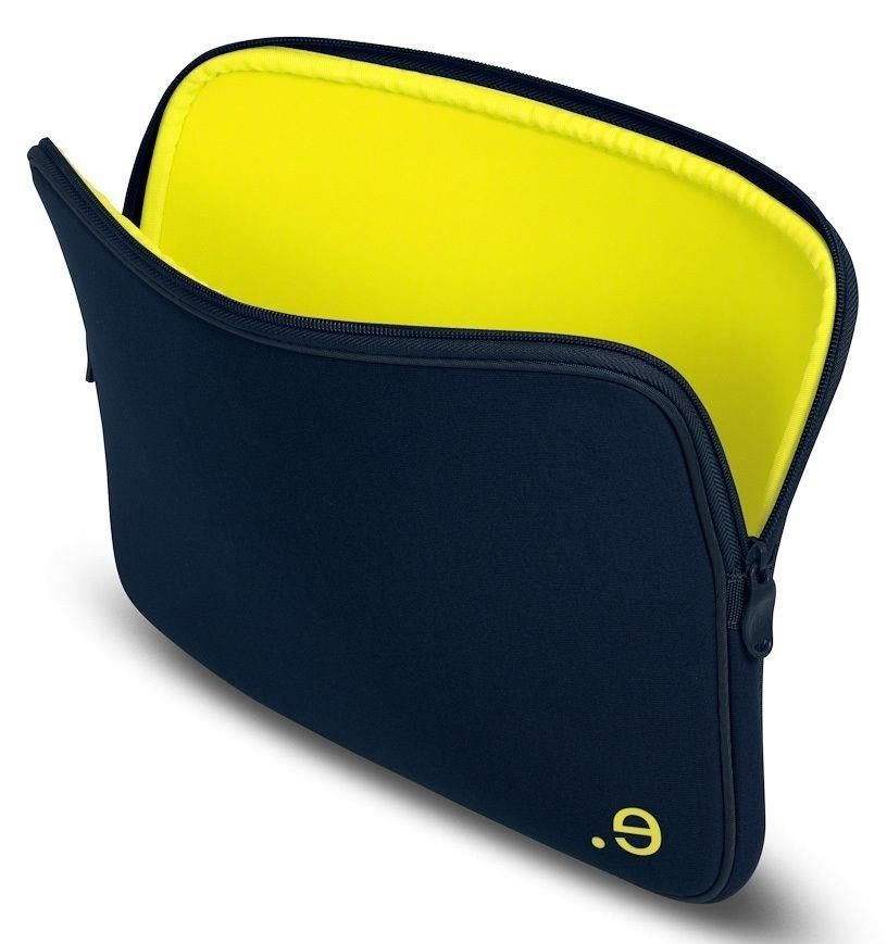 "LA Robe Laptop Sleeve for 13"" Laptop, Marine/Yellow"