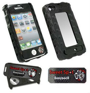 iPhone 4 and 4S Cellphone Armor helps keeps your iPhone in a secure and shock resistant cradle that you can dock almost anywhere