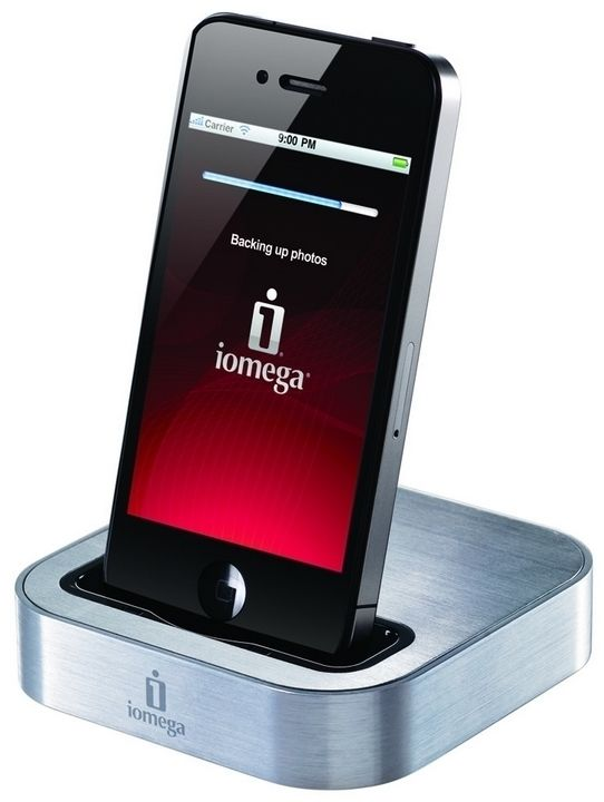 Iomega SuperHero Backup and Charger for iPhone