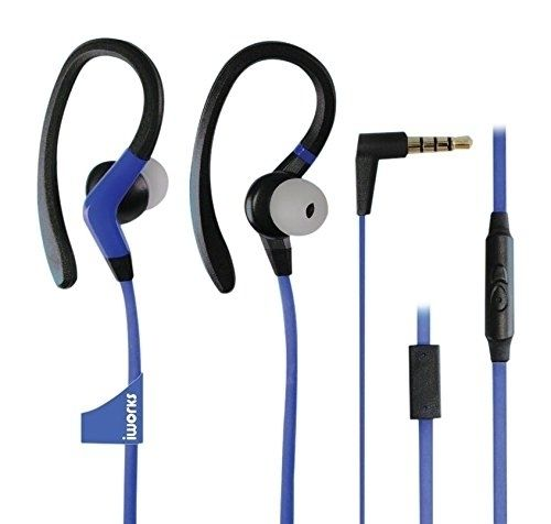 IXP Waterproof Sports Earbuds - BlueInline microphone for convenient phone and multitasking calls