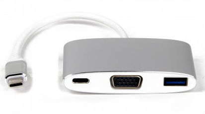 LMP USB-C Multiport VGA & USB Adapter, Silver