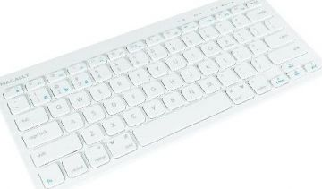 Macally Bluetooth Keyboard for Three Devices, White