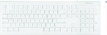 Macally USB-C Keyboard, White