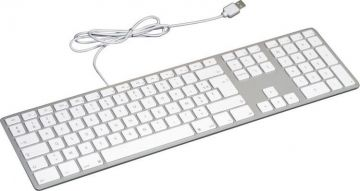 Matias Wired Aluminum Keyboard for Mac, Silver