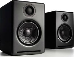 Audioengine 2+ Speakers - Black - Premium Powered Desktop Speaker System