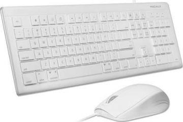 USB Keyboard and Optical Mouse Combo, White