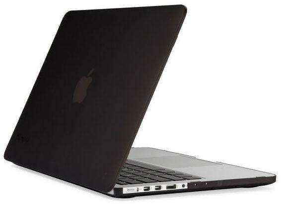"SeeThru Hard Shell Laptop Case for MacBook Pro 13"" Retina, Onyx Black Matte"
