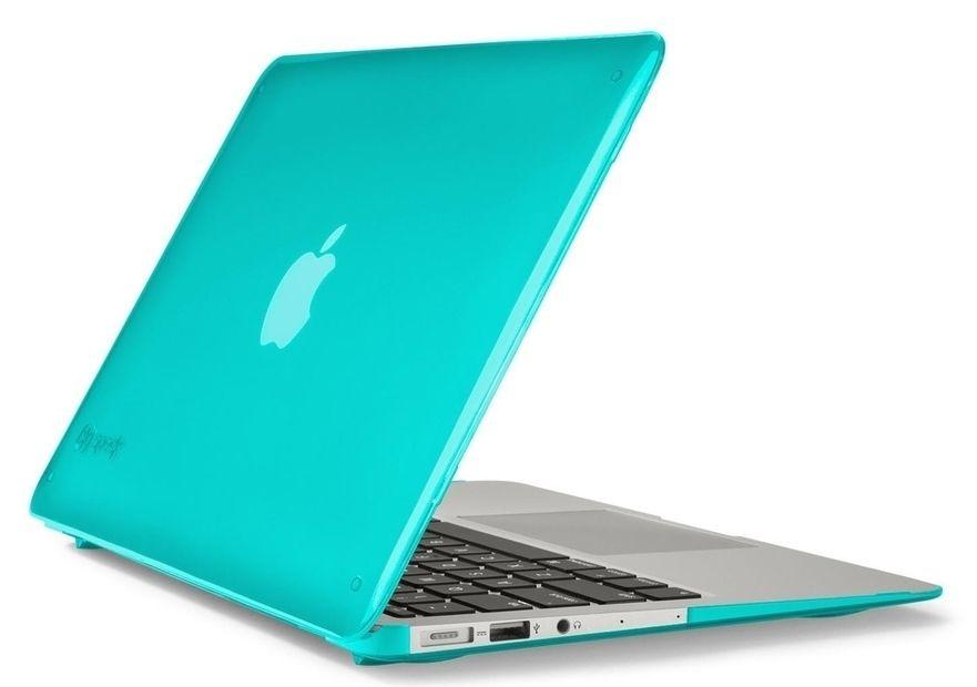 "SeeThru Satin Hard Shell Laptop Case for MacBook Pro 13"" Non-Retina with CD/DVD Drive, Calypso Blue"