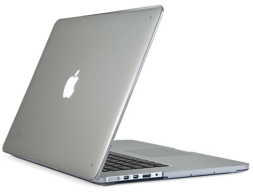 "SeeThru Hard Shell Laptop Case for MacBook Pro 13"" Retina, Nickel Grey"