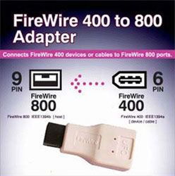 FireWire 400 to 800 Adapter